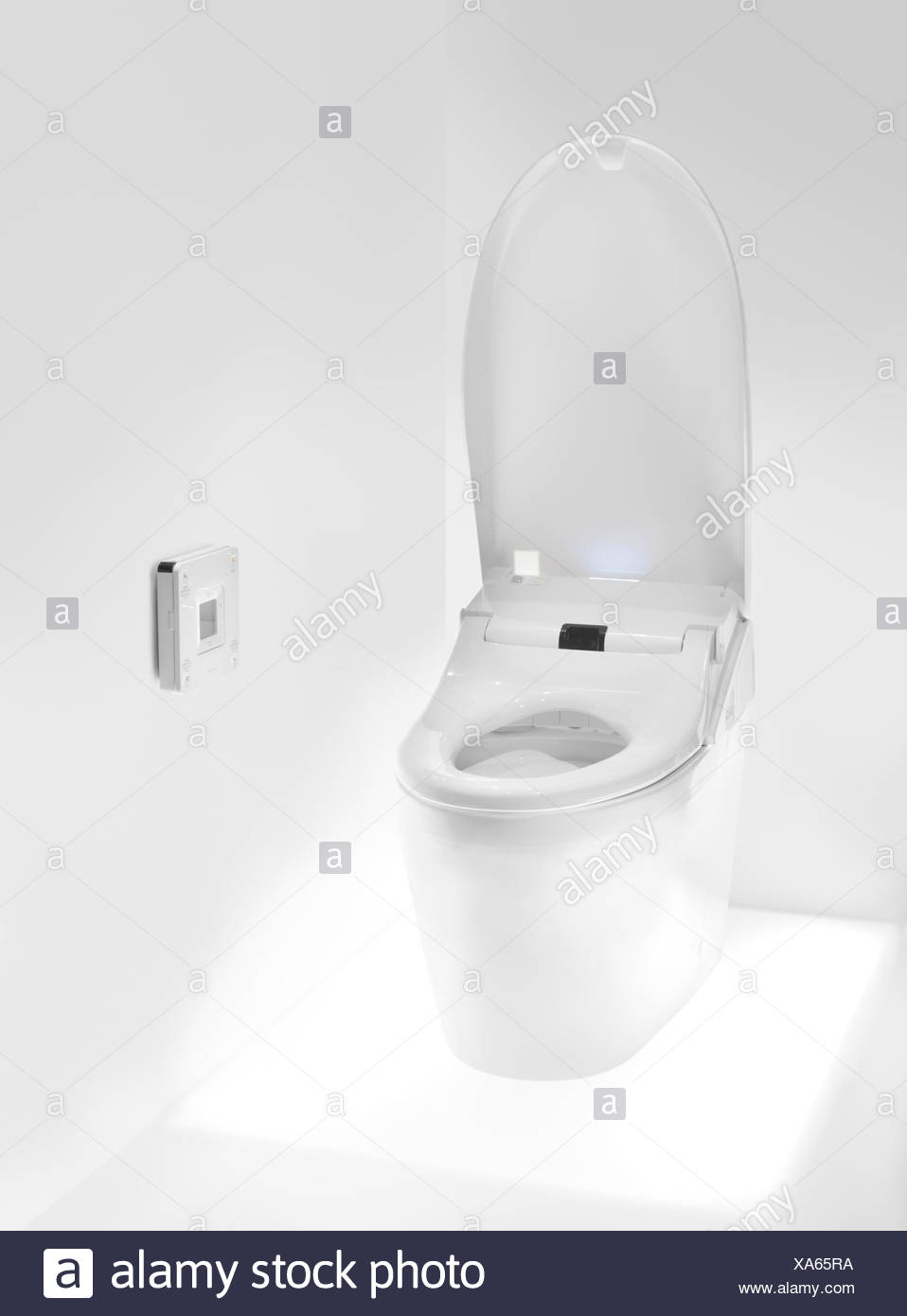 Toto toilet with Washlet seat, high-tech toilet with a remote ...
