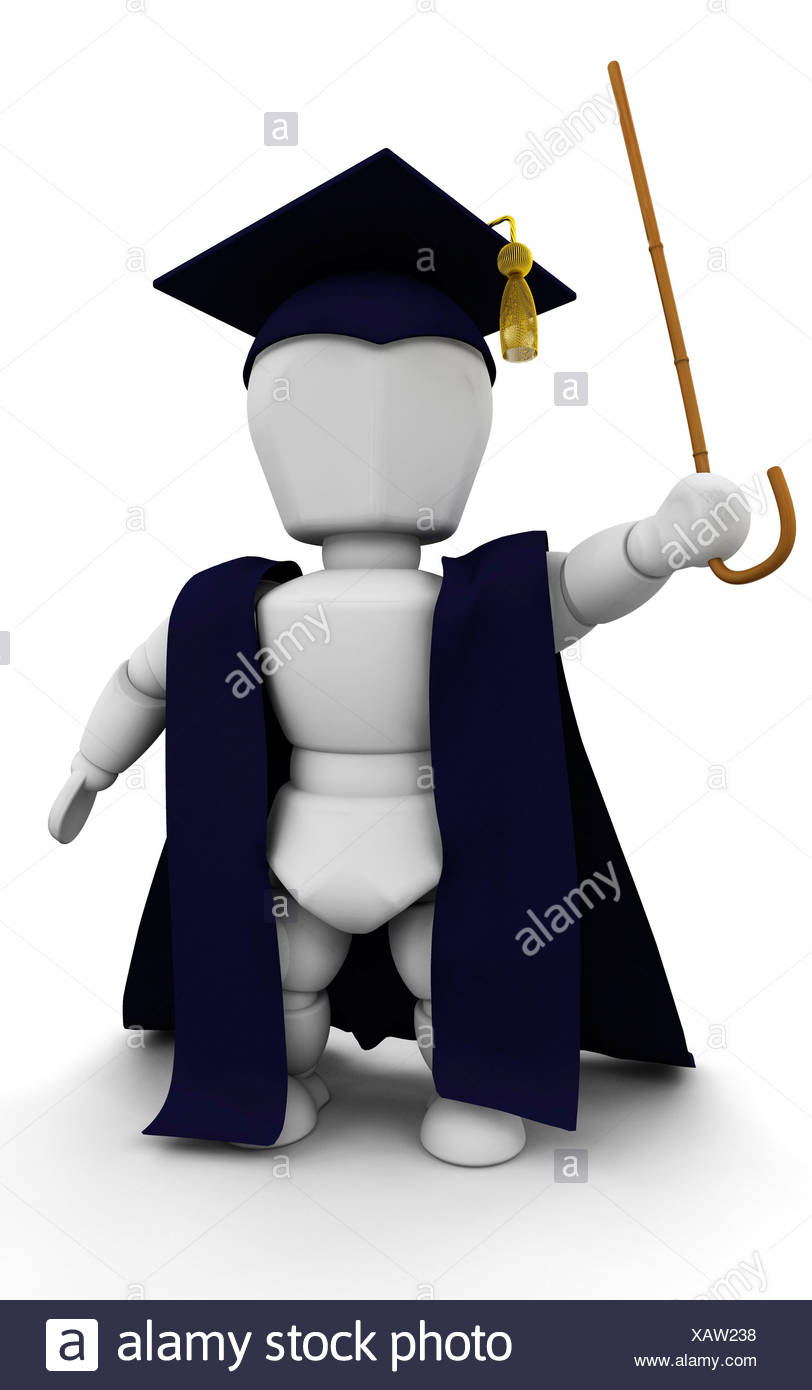 3D render of a teacher in cap and gown Stock Photo: 282062908 - Alamy