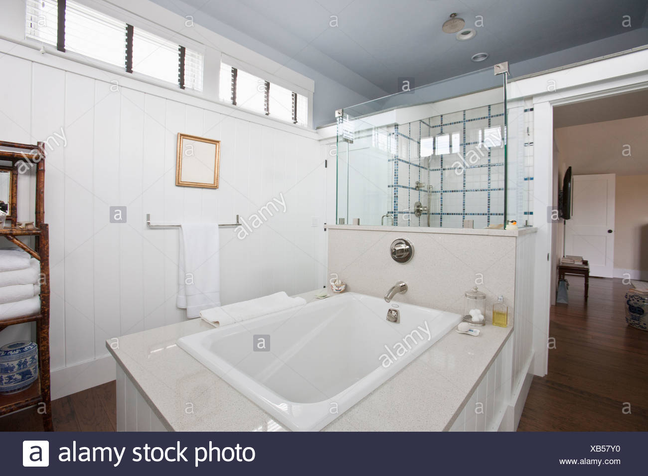 Bathroom, shower and tub in a Green Technology Home which is water ...