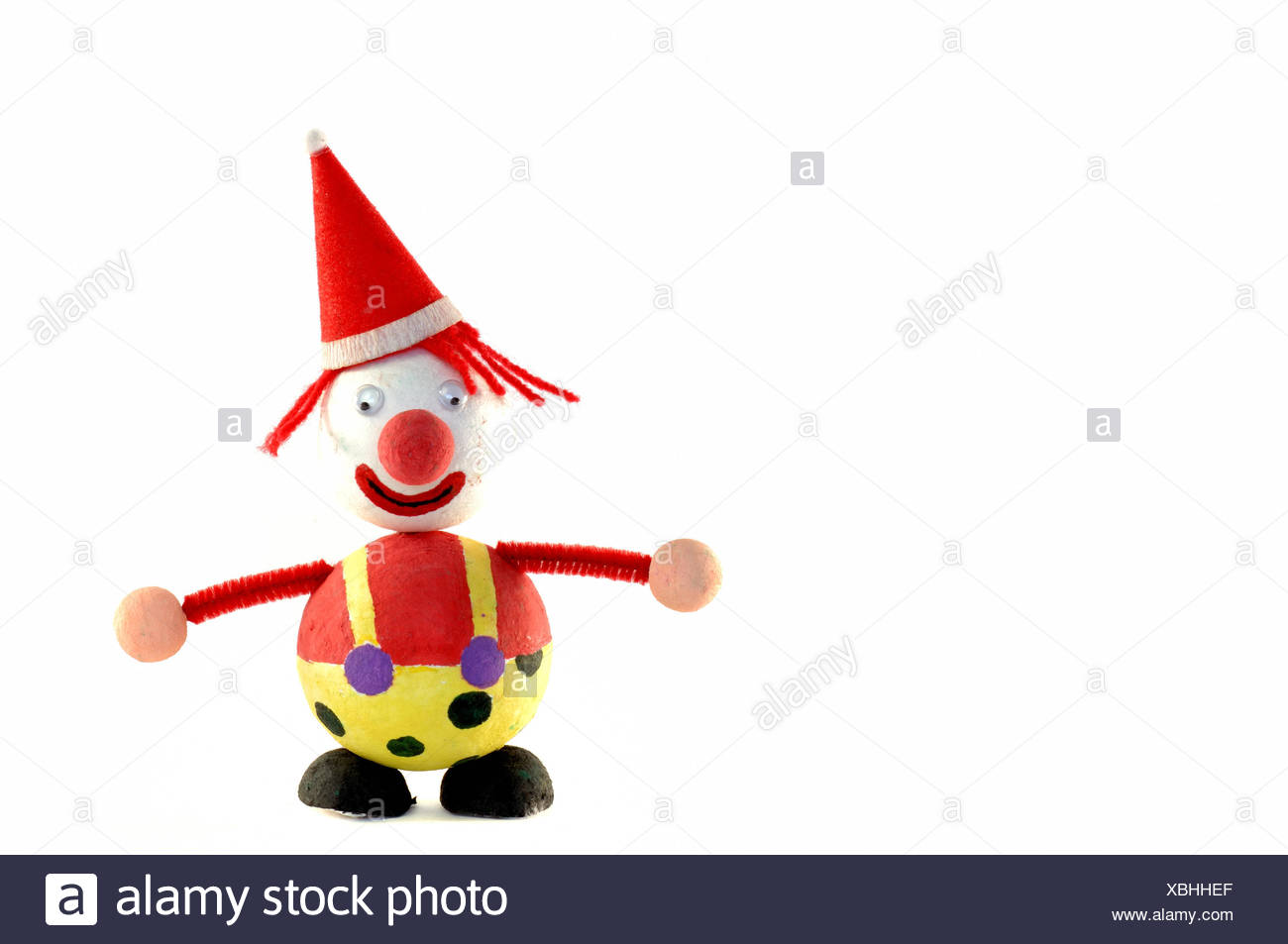 Isolated Clown Do Handicrafts Christmas Xmas X Mas Game Tournament