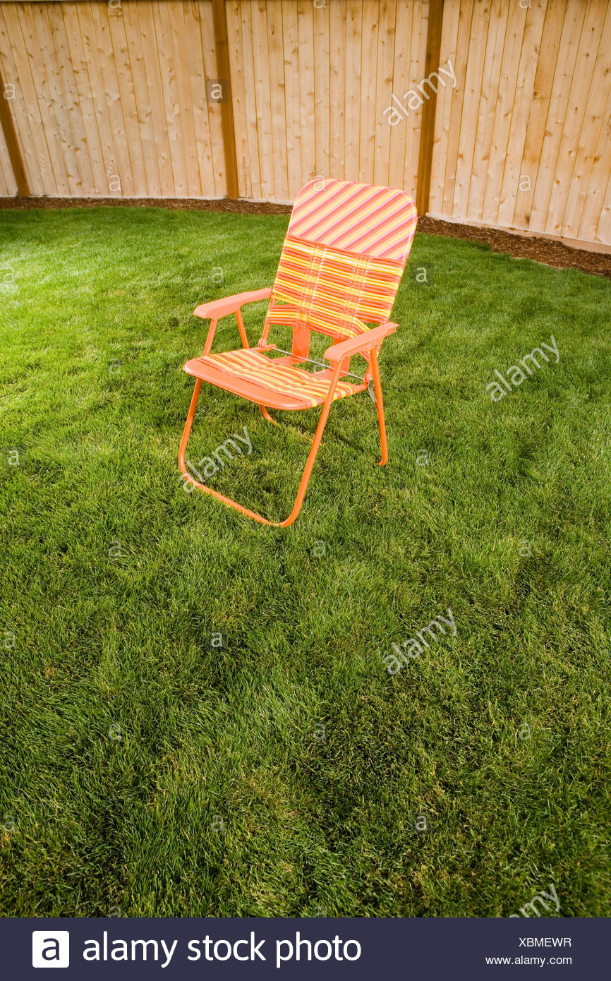 Delicieux Orange Lawn Chair Outside