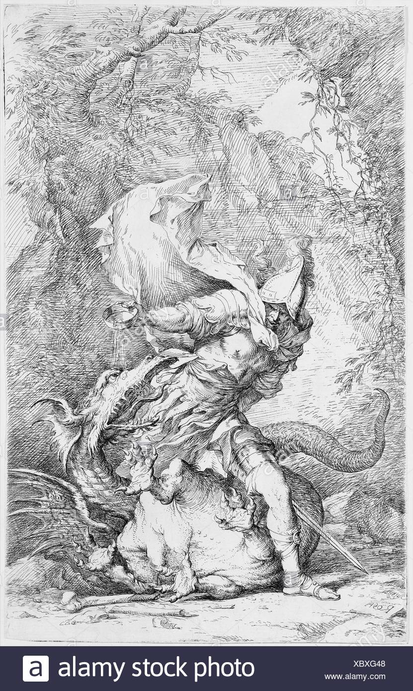 Artist: Salvator Rosa (Italian, Arenella (Naples) 1615-1673 Rome); Date:  ca. 1663-64; Medium: Etching and drypoint; Dimensions: