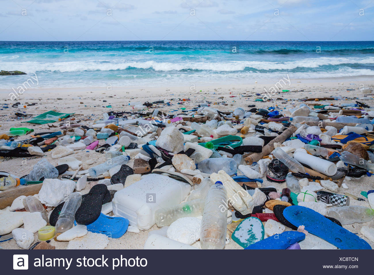 plastic waste washed up at greta beach christmas island australia - Beach Christmas Pictures