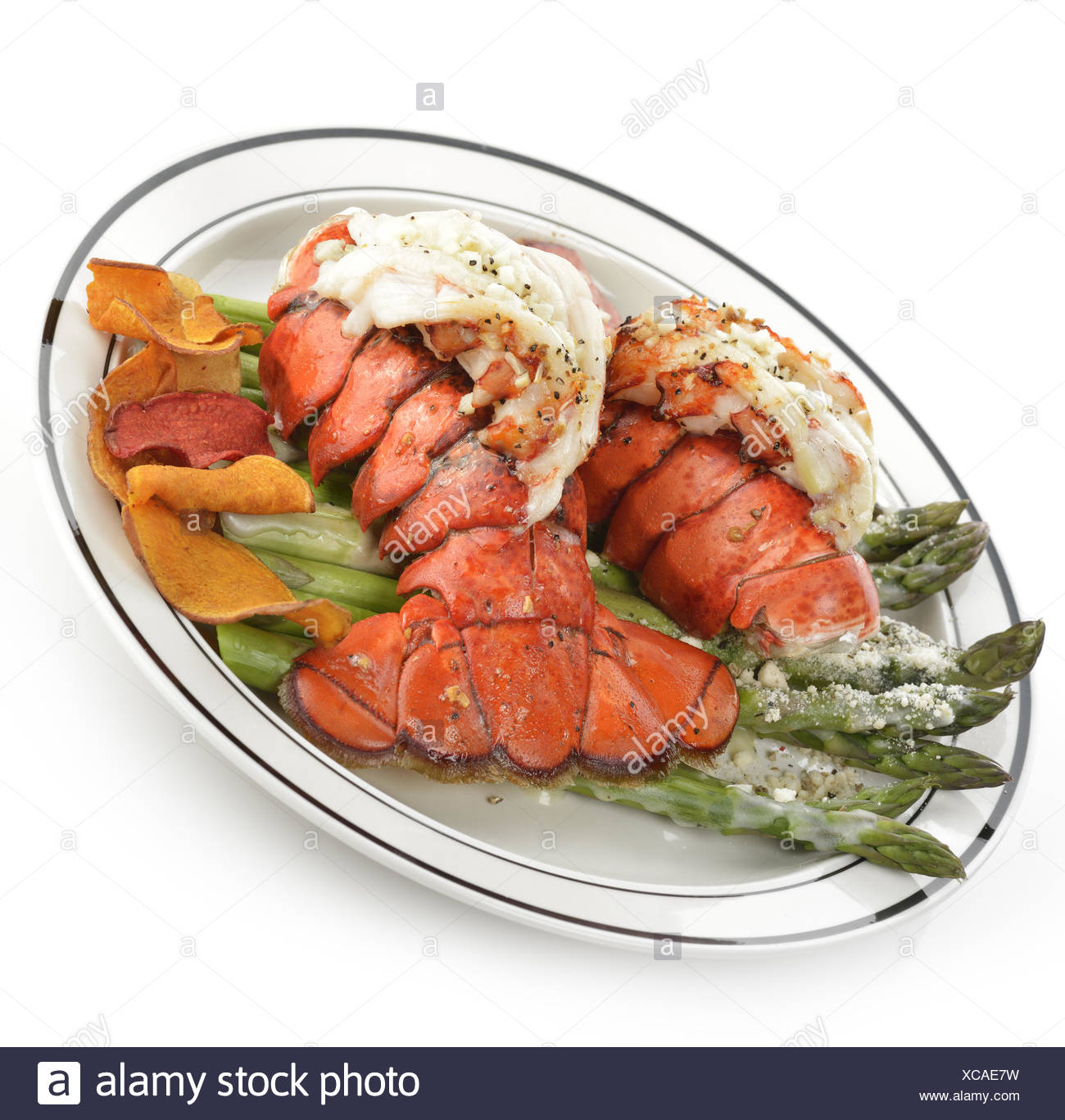 Lobster Tail Plate Stock Photos & Lobster Tail Plate Stock ...