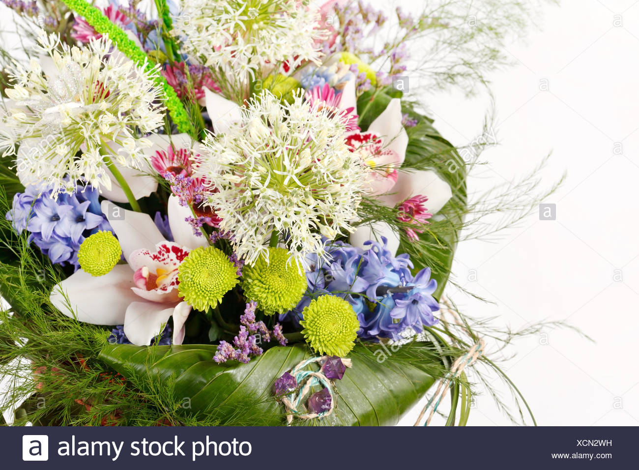 Beautiful Flowers In The Basket Stock Photo 283205037 Alamy