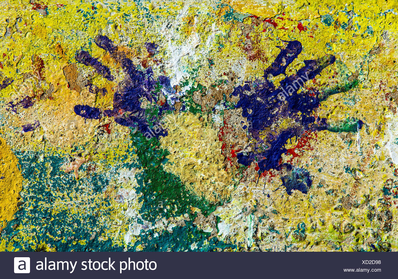 South Africa Johannesburg Klipspruit Handprints on wall Stock Photo ...