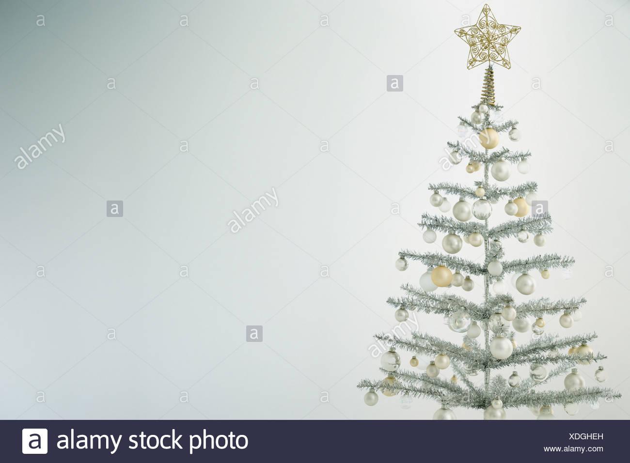 Silver christmas tree stock photo: 283721385 alamy