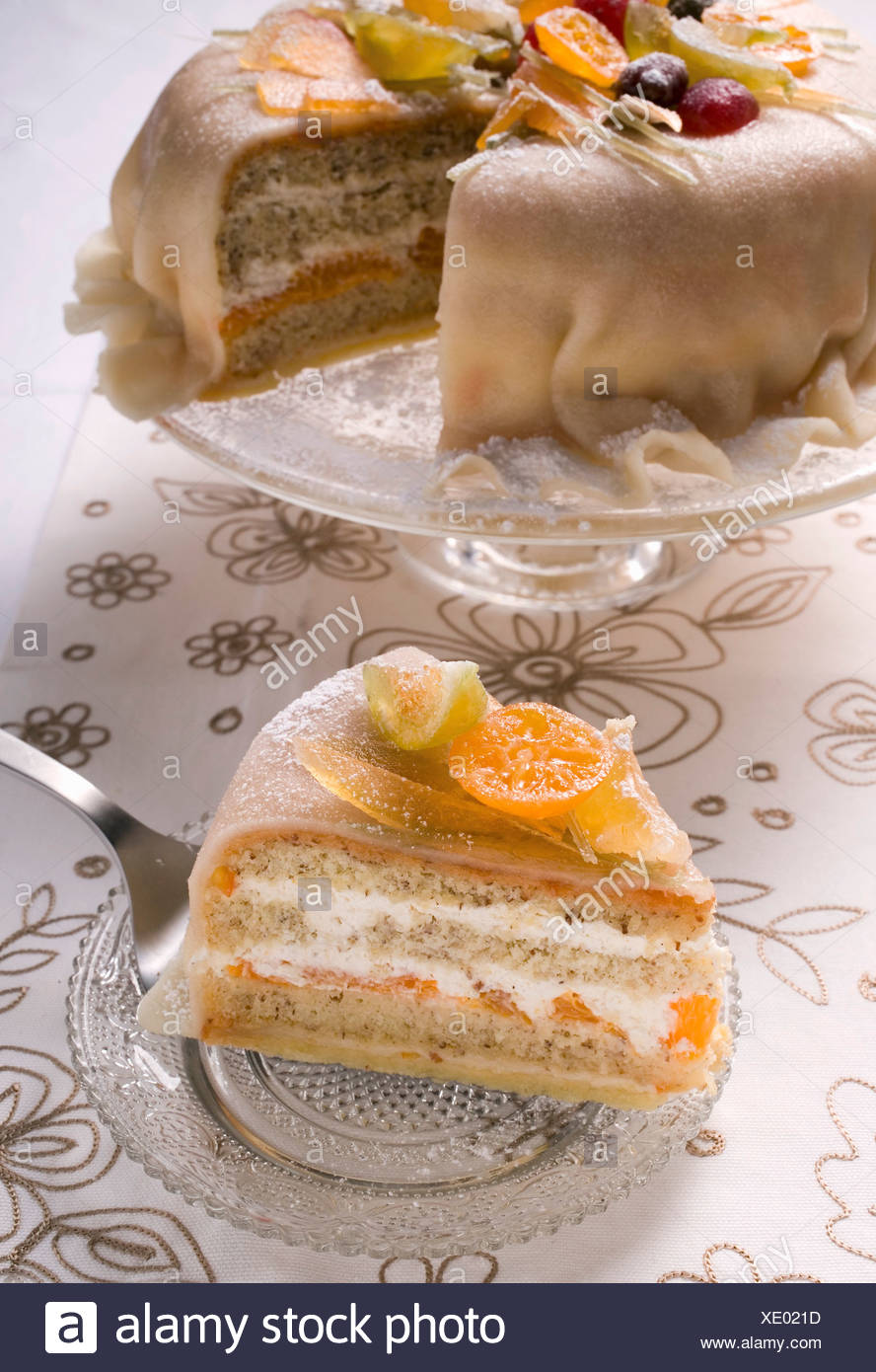 Marzipan Covered Fruit Cake