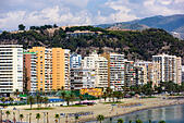 malaga-spain-resort-skyline-at-malagueta