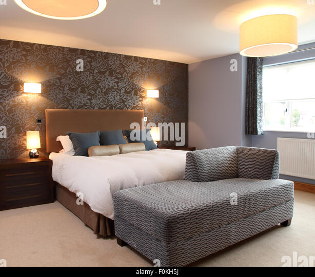 Contemporary Bedroom Wall Lights: Bedside Wall Lights Stock Photos & Bedside Wall Lights