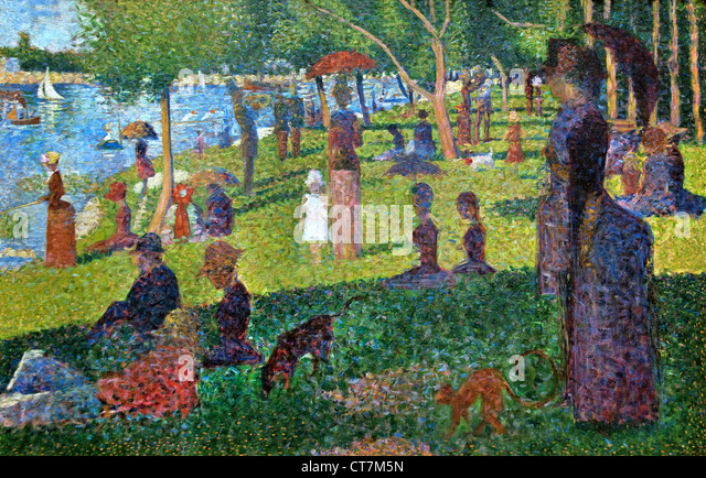formal analysis of sunday afternoon on the island of la grande jatte In his best-known and largest painting, georges seurat depicted people relaxing  in a suburban park on an island in the seine river called la grande jatte.