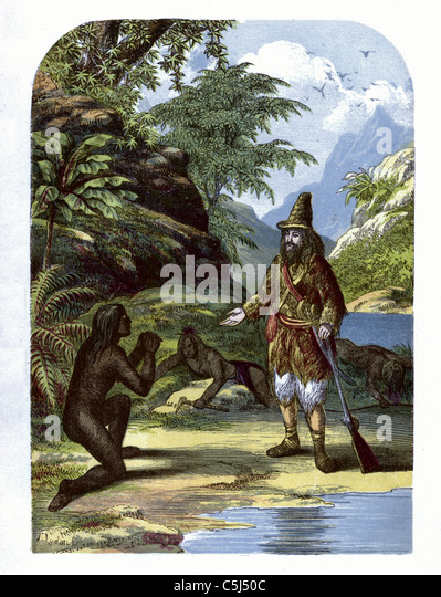 Illustration From Robinson Crusoe Stock Photos  Illustration From