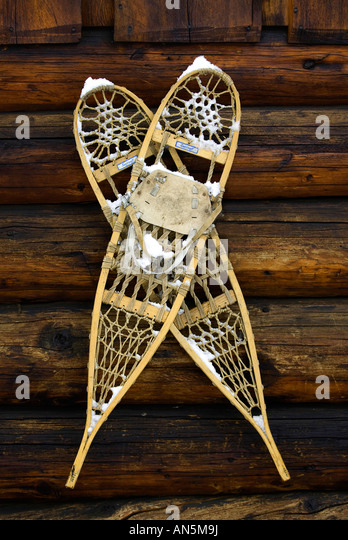 Hanging Snowshoes Stock Photos Amp Hanging Snowshoes Stock
