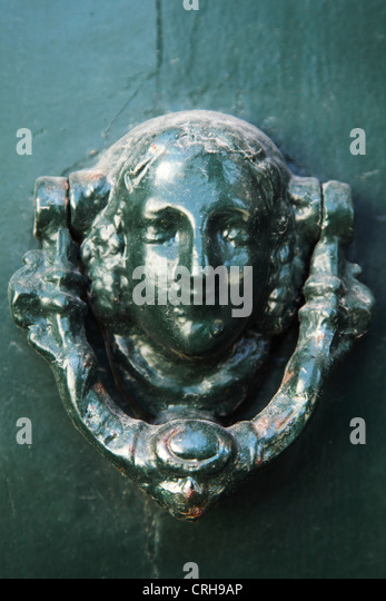 Ornate Door Knocker In Porto, Portugal.   Stock Image