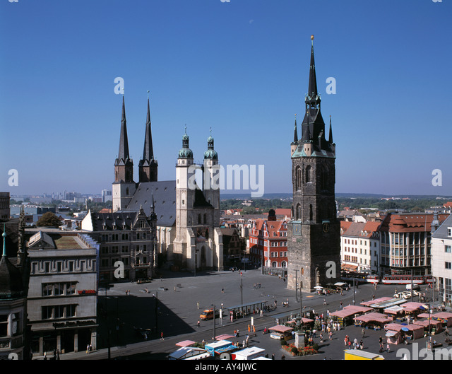 marktkirche market church in halle germany stock photos marktkirche market church in halle. Black Bedroom Furniture Sets. Home Design Ideas