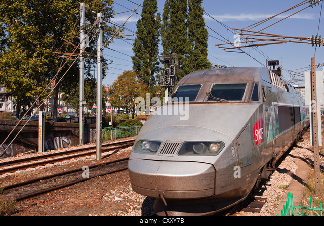 tgv bullet train stock photos tgv bullet train stock images alamy. Black Bedroom Furniture Sets. Home Design Ideas