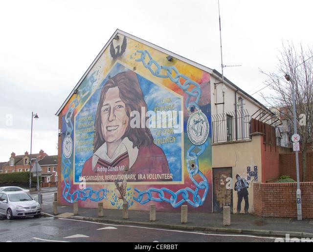 Belfast mural h block stock photos belfast mural h block for Bobby sands mural falls road