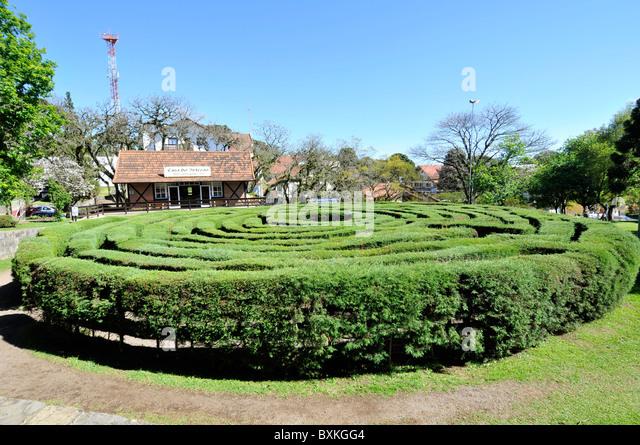 Garden Maze Main Square Nova Petropolis Rio Grande Sul Brazil Mind Boggling Hedge