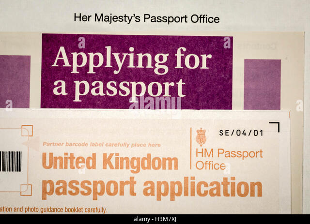 British Passport Application Form Stock Photos  British Passport