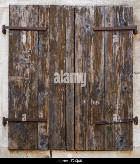 Brown Wooden Shutters : Brown shutters stock photos images