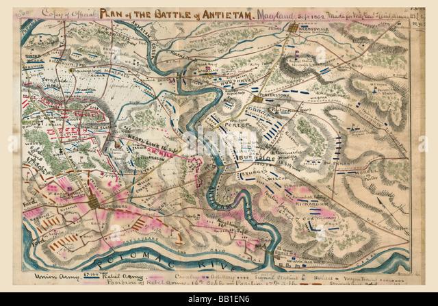 Battle Of Antietam Or Sharpsburg 2 Stock Image