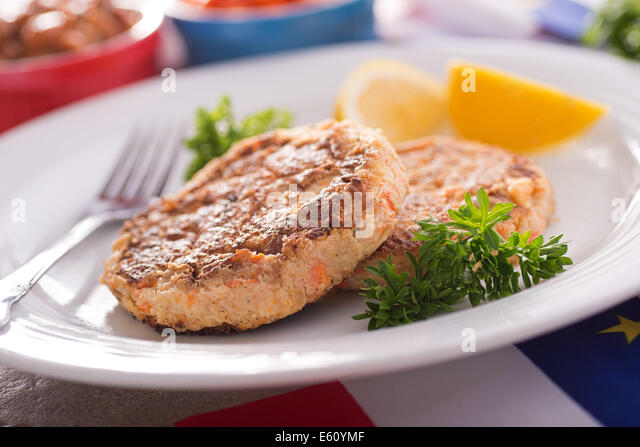 Homemade acadian style fish cakes stock photos homemade for Baked fish cakes