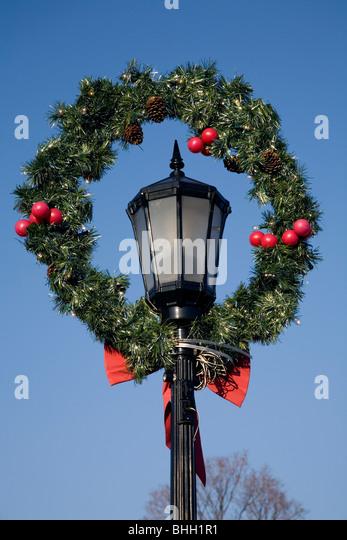Christmas Decoration On Light Pole Stock Photos & Christmas ...