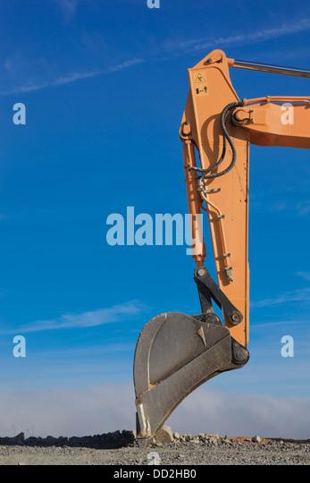Articulated Hydraulic Arm : Arm bucket hydraulic excavator digging stock photos