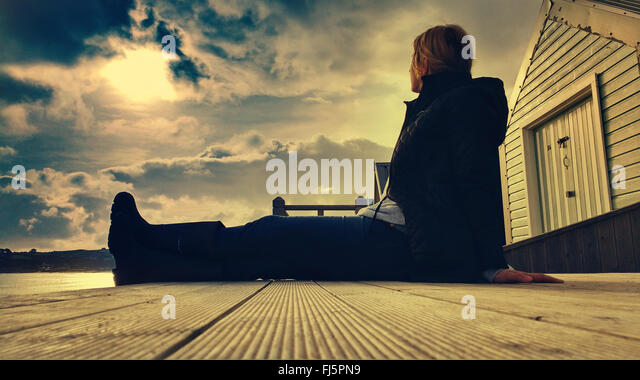 Wood cabin stock photos wood cabin stock images alamy for How to sit comfortably on the floor