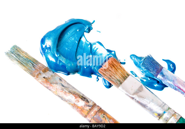 Paint splash artist stock photos paint splash artist for Bloody bay wall mural