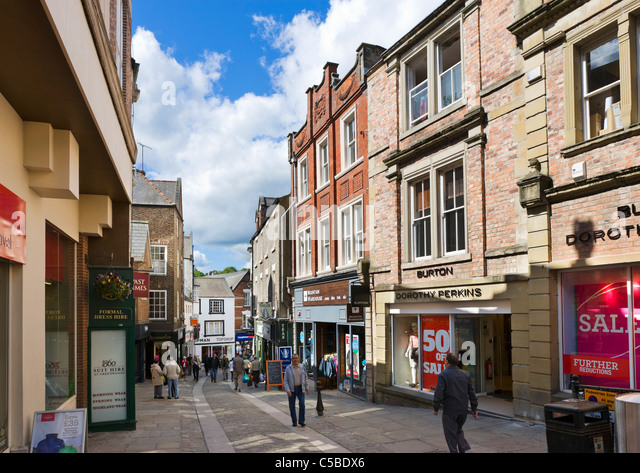 Shops On Silver Street In The City Centre Durham County Durham