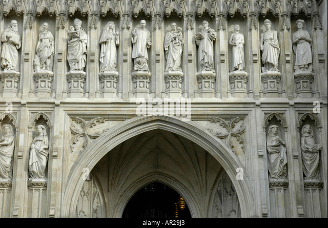 Statues of Christian martyrs above the Great West Door to Westminster Abbey London UK - Stock & West Door Westminster Abbey Stock Photos \u0026 West Door Westminster ... Pezcame.Com