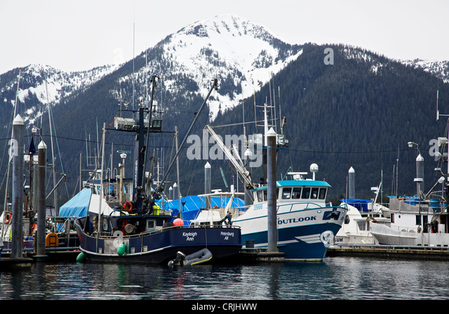 petersburg alaska fishing boats stock photos petersburg