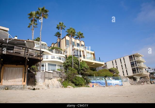 Beach houses laguna beach california usa stock photos for Laguna beach luxury homes