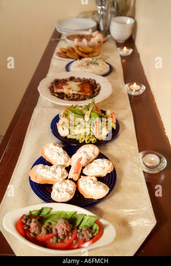 Feast of seven fishes stock photos feast of seven fishes for Christmas eve fish dinner