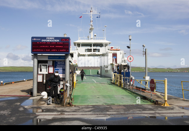 Car Ferry Shetland Islands Scotland Stock Photos & Car Ferry ...
