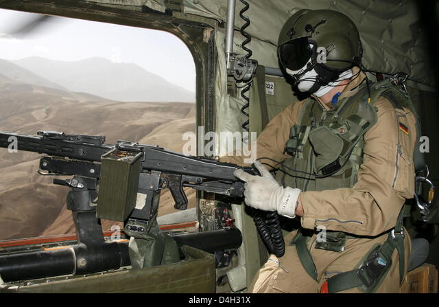 A Bundeswehr soldier secures the area as doorgunner of a CH 53 transport helicopeter on a & Doorgunner Stock Photos u0026 Doorgunner Stock Images - Alamy pezcame.com