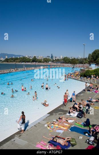 Kitsilano pool vancouver stock photos kitsilano pool for Best pool buys canada