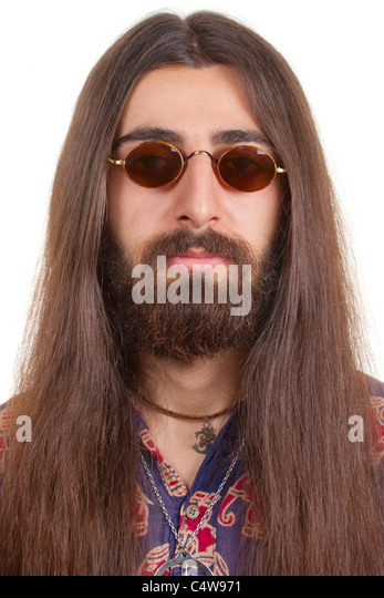 Brilliant Hippie Man Stock Photos Hippie Man Stock Images Alamy Short Hairstyles Gunalazisus