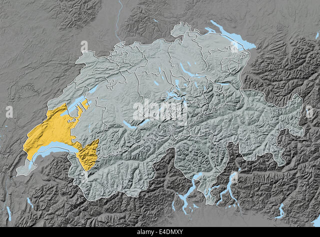 Vaud Switzerland Europe Map Stock Photos Vaud Switzerland Europe