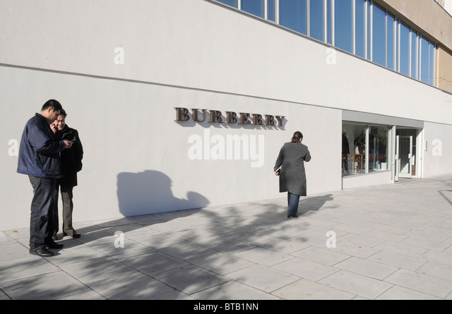 factory outlet burberry outlet sale 131r  Shoppers at the Burberry outlet store in Hackney, east London, UK