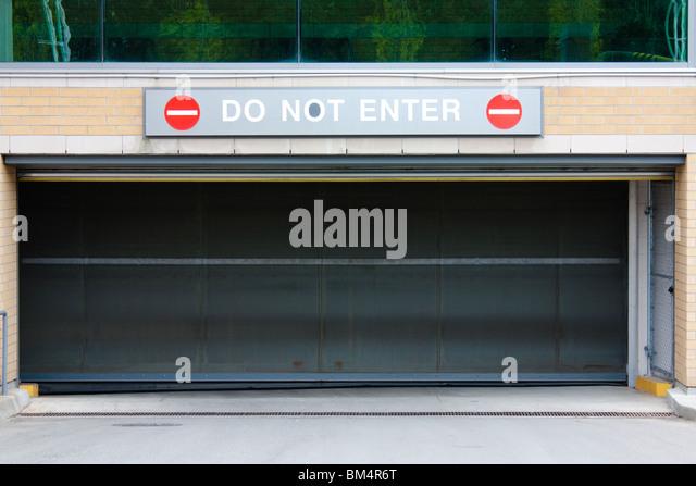 Do Not Enter Garage : Enter car stock photos images alamy
