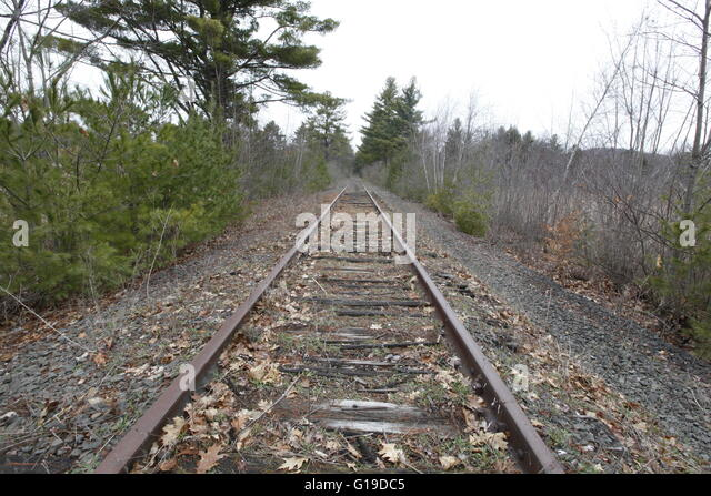 Abandoned railroad track stock photos abandoned railroad for Old house tracks