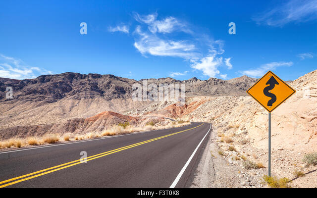 Winding road sign stock photos winding road sign stock images alamy country road and winding road sign usa stock image publicscrutiny Images