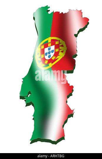 Illustration Image Portuguese Flag Stock Photos Illustration - Portugal map flag
