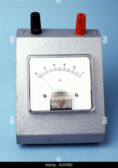 analogue ammeter 0 1 amp needle not on zero a20ab2 ammeter stock photos & ammeter stock images alamy DC Amp Meter Wiring Diagram at n-0.co
