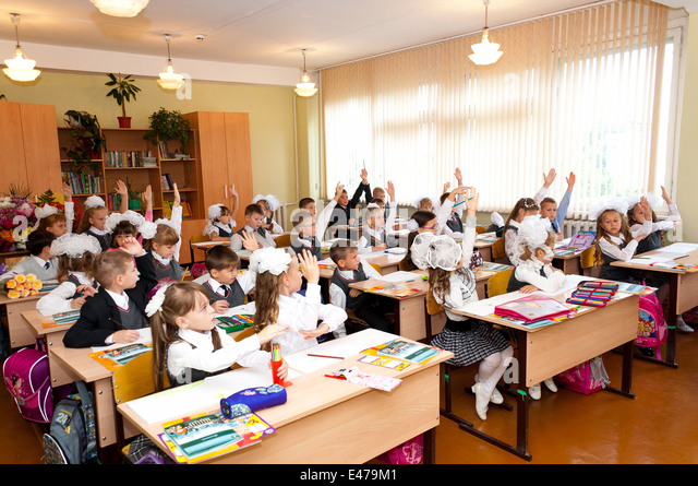 Elementary Classroom Students : Lecturer books classroom stock photos