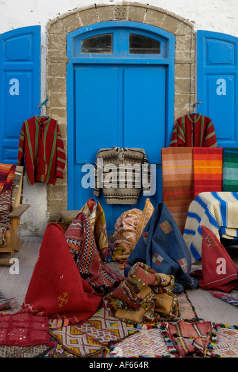 Traditional Moroccan Rugs For Sale Essaouira Morocco North Africa   Stock  Image