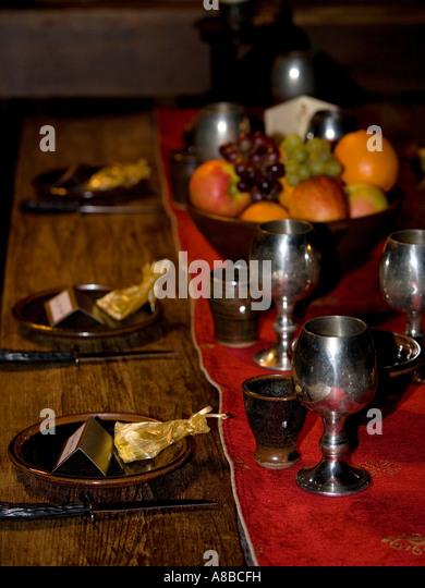 Medieval Feast Table Setting