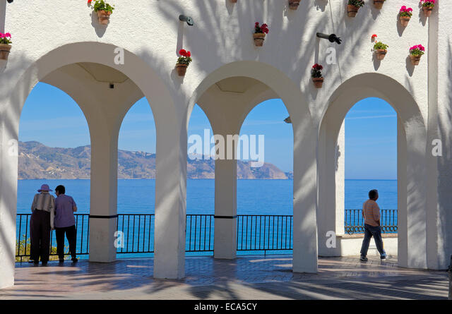 balcon de europa nerja malaga stock photos balcon de europa nerja malaga stock images alamy. Black Bedroom Furniture Sets. Home Design Ideas